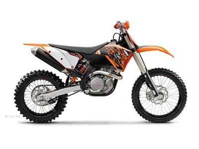 ktm 350 xc. KTM 2009 505 XC-F new Orange