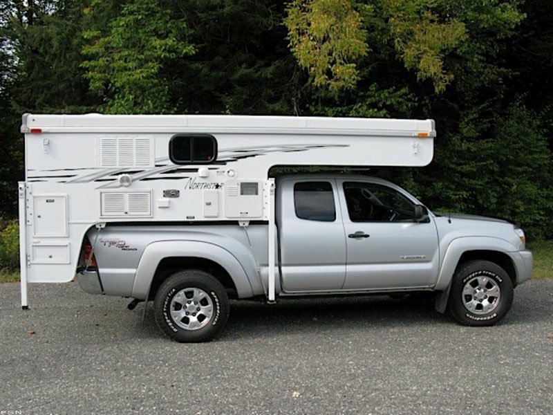Made for compact trucks with a BATHROOM!