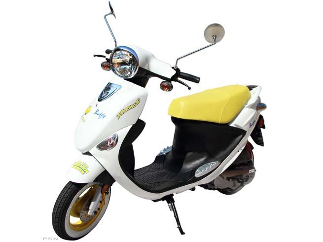Special edition Lemonhead Buddy 50! Different colors, different decals, different tires.. and a free vintage tin full of lemonheads