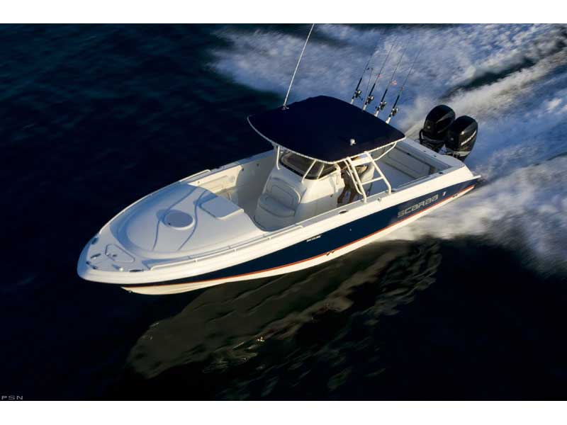Beyond being a Wellcraft the 35 Scarab Sport is a large center-console ...
