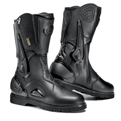 SIDI Armada Gore-Tex Adventure/Touring Boot.  The SIDI Armada Gore Tex Boot is two boots in one! Featuring a wrap-around upper with ankle support beams can be removed to transform the Armada from an adventure boot to a touring boot