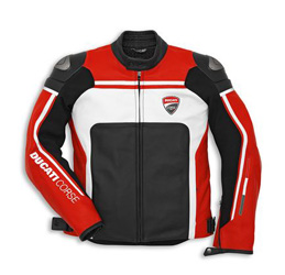 Made exclusively for Ducati by Dainese, the new Ducati Corse '14 jacket features perforated D-skin leather and an embroidered logo. This jacket includes CE certified shoulder and elbow armor and it is pocketed for a G2 back protector and features a full le