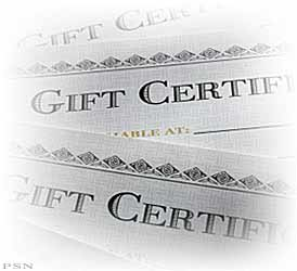 We Sell Gift Certificates!