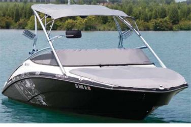 A bow cover lets you convert your bow into a large storage area when you dont need it for passengers. The great-lookingcover snaps into place, and can easily be stored in the boat when not in use. The bow cover is constructed of 7/8-inch tubing with a S