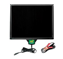 5-watt solar panel with built-in Battery Tender super smart charging controller. 100% portable battery charging and maintenance. Perfect for storage space without power access! Battery Tender solar panels are the only panels available with a built-in cha