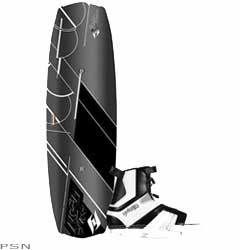The Forefront series takes the next step in toe-side engineering, enabling riders to advance their skills much quicker than before. Its top deck includes the first ever toe side footbed riser. This feature quickens response time when initiating a toe side