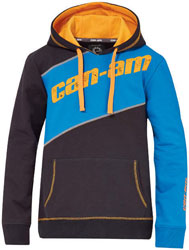 Kangaroo front pocketRibbed waistband and cuffsCan-Am print on hoodie72% cotton, 23% polyester, 5% spandex