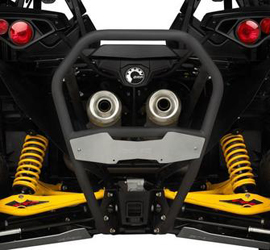 Provides a sporty look while protecting the vehicle's bodyworkRear receiver hitch compatibleFits Maverick, Maverick MAX