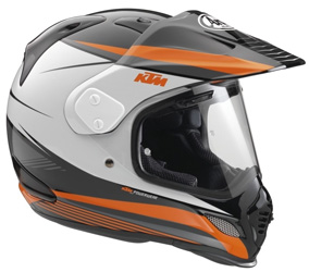 Dual-Sport Motorcycle HelmetDRY-COOL liningChin vent designed with multiple intake ports to improve ventilation and stabilitySide air intakesSpecial IC and DDL2 ventilation systemFiberglass shellInner shell made from multiple-density foamThree ways to wea