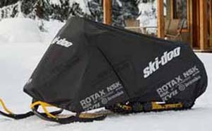 Provides protection for anysnowmobile modelBlack with graphics