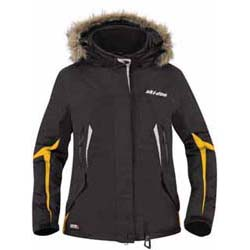 100% seamsand logos sealed.Adjustable collar,hem and wrists.Handwarmer pockets.Powder skirt.Removable syntheticfur around detachableinsulated hood.Front flap and additionalinner flap keep wind out.Shell: Nylon.Insulation: Primaloft