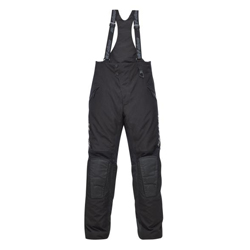 Full Insulation.Articulated, shaped and padded knees.Adjustable waist.Reinforced crotch.Full-length 2-way water-resistant side zippers.Storm gaiters to shield snow entry.Shell: 95% Polyester, 5% Nylon.Insulation: Primaloft Black.