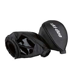 Ultra warm handlebar muffs with fleece liner.Designed for extreme cold conditions.Easy to remove in warmer weather.Can be used on handlebars with or withouthandguards and mirrors.Inner skeleton allows muff to keep its shapeand gives more space