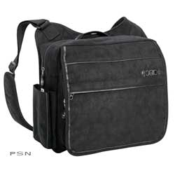 FEATURES:Interior padded laptop sleeveMagnetic closure front flap with interior pocketSide cell phonepocket with velcro closureFront organizer panel including: jewelry, makeup and no boys allowedpocketsQuick closure water bottle pocketLarge main zipper