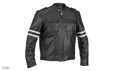 Quality, medium-weight leather provides protection and comfortRetro styling gives this jacket a classic look and feel2 front shoulder intake vents and 2 vertical rear exhaust vents keep you coolThe removable, insulated, fully-sleeved warm liner has a built