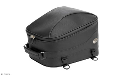 Rich, synthetic material with UV protection offers the look and feel of top quality leather and is a perfect match for the River Road saddlebagsThe beautifully domed design stands out from the crowdThis extra capacity Tail Pack has stylish piped edging tha