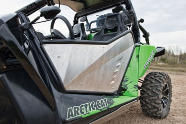 Adds style and function to your Wildcat.  Frame and skin constructed of lightweight aluminum to save weight and provide strength. Sealedleading and bottom edge help prevent dirt, sand and debris from entering vehicle  Premium fit and  finish.