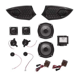 This Cross Country Extreme 6 Speaker Audio Kit doubles the audio output of a Victory Motorcyclesfairing-mounted audio. This system includes two units  each with three powerful, premium-qualityspeaker components  that directly replace the stock spe
