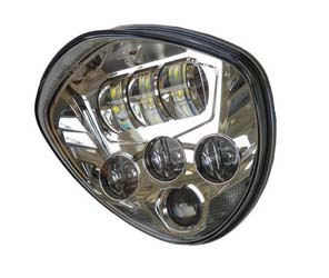 The Beacon LED Headlight not only provides more visibility to see other traffic and obstacles, but alsomakes you more visible to other motorists and pedestrians. This is a premium, high-intensity lightthat illuminates the road and requires no additiona