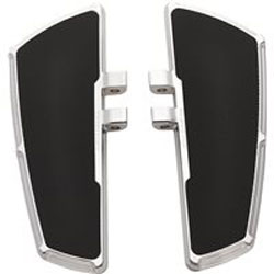Victory Beveled Passenger Floorboards infuse a Victory motorcycle with custom style from Arlen Ness and give a passenger a comfortable foot support. These floorboards have a premium chrome that coordinates with other components and accessories. The Vict