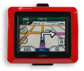 The synergy between Ducati and Garmin gave birth to this cutting-edge GPS navigator that offers top performance, reliability and full integration with the bike. Kit comes complete with touch screen, anti-glare 18-bit LCD display, lithium-ion battery with u