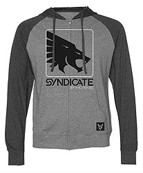 Hoodie Fabric Material: Premium cotton polyester blendScreen-printed artwork4.5 oz fleeceColor: Heather Gray / Charcoal