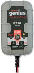 750 MA 6V-12V Battery ChargerSmart, five-step, fully automatic switch-mode battery charger and maintainerBest for small battery applications  from 1.2-30Ah, such as motorcyclesEffectively maintains any 6V or 12V batteries in larger applications, such as ca