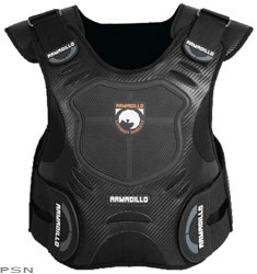 Breathable mesh liningDesigned for low profile under any jacketImpact absorbing articulated back armorAdjustable elastic straps at waist andarms for a customized fitFortified chest protectorAbrasion resistant