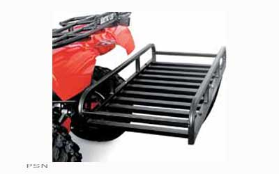 Adds a new dimension of packing capacity to any ATV/UTVvehicle with a 2 hitch receiverPerfect for hauling hunting equipment, cooler, firewood and wild gameConstructed of aircraft aluminum, weighs only 22 lbs. and can handle up to 400 lbs.Low cente