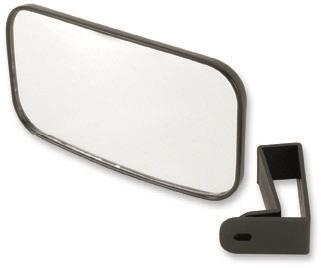 Roll bar mounted rear view mirrorCan be mounted inside or outside of cab to 1.75-diameter roll bars with simple clampInexpensive but high-quality itemAUTOMOTIVE STYLE REAR VIEW MIRRORLarge viewing surfaceAdjustable viewing anglesAutomotive stylingHig