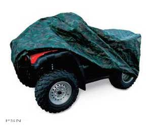 X-Large and XX-Large ATV covers completely cover and protect your 3- or 4-wheel ATVX-Large fits most ATVs; XX-Large is for ATVs with large racksConstructed of rugged, water-repellent polyurethane-coated nylonHeavy-duty elastic cord on bottom ensures a snug
