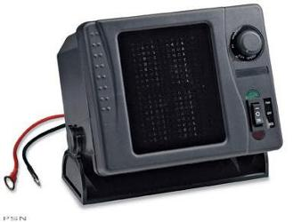 Stay warm with an all-new 12V/300W heater for  your UTVFeatures a three-position switch from heat to fan onlyRotate the top knob to  adjust the fan speed for precise comfortSwivel stand allows airflow to be directed just where you need itEasy to install an
