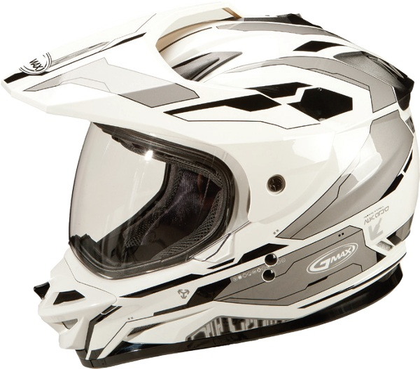 D.O.T. approved, lightweight thermo-plastic poly alloy shellHelmet can be quickly converted from a visor configuration to a visor-less configuration.Helmet includes clear shield, visor and side plate covers for use when visor is removed to give the helmet