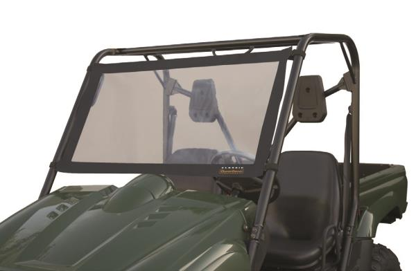 Super clear vinyl window framed with heavy-duty ProtekXTM Extreme fabricBuilt-in metal supports provide great fit and visibilityFits in seconds to the roll cage of all UTVs with cinch-tight strapsRolls up for storageTwo year warranty