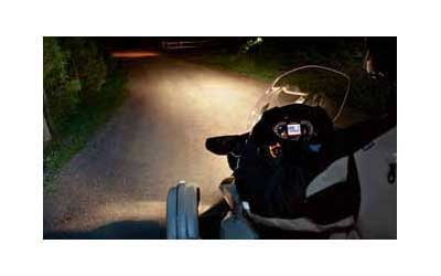 Enhance low beam light for better visibility at ground level andon the sides of your vehicle. Uniquely styled halogen fog lampsfeature a 35-watt bulb and clear lens with a faceted innerreflector. Harness included. Easy installation. For Spyder RS, ST