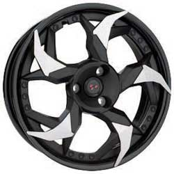 Unidirectional design (a left and a right wheel). Drastically change the look of the vehicle. Patented casting process allows a weight reduction of 2.2 lb (1kg) per wheel compared to stock wheels. Sold in pairs. Black and machined. For Spyder RS, ST, RT 20