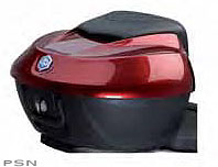 Top Box Kit with fast removing sistem and capsizing carrierItfits 1 full face helmet and 1 visor full jet helmetThe upper shellis painted with the same colour of the vehicleThe top box isequipped with a comfort backrest pad which matches with thesa