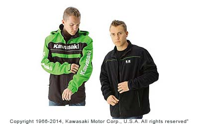 Water-resistant 80% nylon/ 20% polyester outer shell with taped seams and mesh liningZip-out fleece inner jacketReflective piping on front and backZip-off hoodAdjustable cuffs and drawcord hemEmbroidered logos on chest, sleeves, back and hood