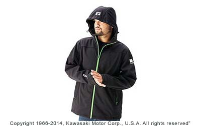 Water-resistant 100% bonded polyester micro fleeceFixed hoodContrast zippersEmbroidered logos on sleeves