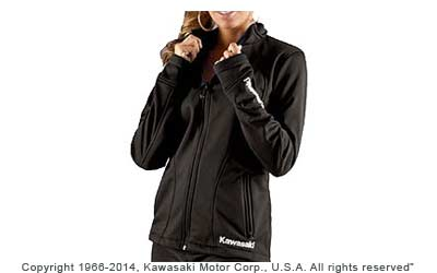 Water-resistant 100% bonded polyester microfleeceOff-center front zipperEmbroideredlogos on jacket and sleeves