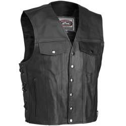 WE NOW HAVE A WIDE VARIETY OF SIZES AND STYLES OF LEATHER VESTS. Sale is for in stock items only.