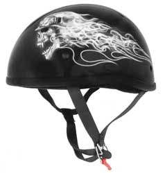 Contoured helmet with a low-profile fitClean, minimalist stylingThermoplastic alloy injected shellRetention straps with D-ringsMeets or exceeds D.O.T. standards