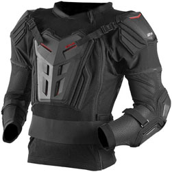 Ultra-lightweight all-in-one upper body protectorSide-zip design allows for full roost protectionHard plastic chest, back, arm and shoulder protectionFull torso and elbow protectionFull articulating spine protection that moves with youLightweight cool ball