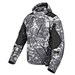 Seam sealed waterproof AR-600 frameReinforced shoulders and elbowsRemovable Vault C.E. approved shoulder and elbow protectorsRemovable Vault C.E. approved spine protectorRemovable Cool-Core moisture wicking linerWaterproof pocketsLarge wa