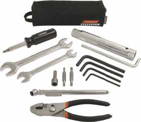 Includes more content than most O.E.M. kits at half the priceHigher quality tools and pouchFits most O.E.M. storage cavities
