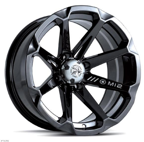 The M12 Diesel by MotoSport Alloys is one amazing looking ATV/UTV wheel style. Chrome plating and deep black gloss automotive grade paint and subtle machined accents make this wheel a perfect balance of aggressive styling and rugged beauty.
