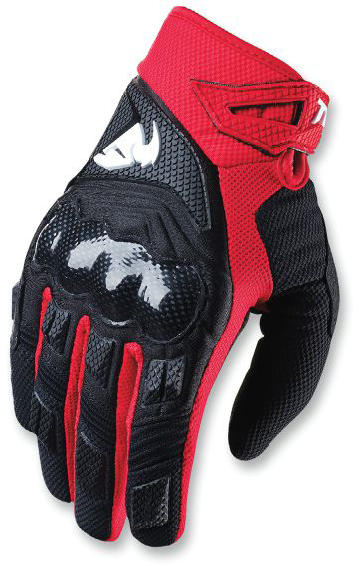 The perfect blend of  off-road toughness and motocross flexibilityPre-curved designed gloves  made of dimple mesh for airflow and mobilityFull silicone print on reinforced Clarino palm with padding in high abrasion areasFingers feature direct-inject