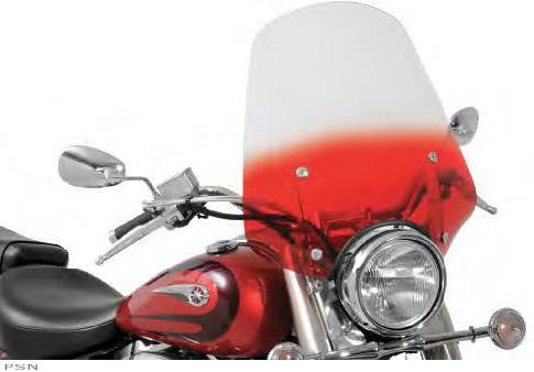 The biggest Sportshield availableSleek styling with maximum coverageMeasures 21 W x 20 H above the headlightAvailable in two headlight sizes  one for 7 and smaller; one for 9 headlightsMade of Lucite for excellent optics