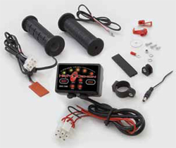 Symtec, the leader in heated grip technology, has raised the bar once again. Symtec now introduces the 4 zone heated grip combo. The kit includes either their standard glue on heated grip or the innovative POCO glueless heated grips with a thumb warmer, it
