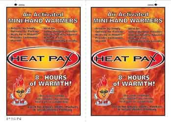 Two Pack Air activated mini/hand warmers Ideal size for headwear and gloves Generates over 8 hours of heat 2